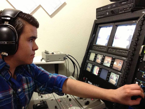 Myself in a control room doing a live broadcast